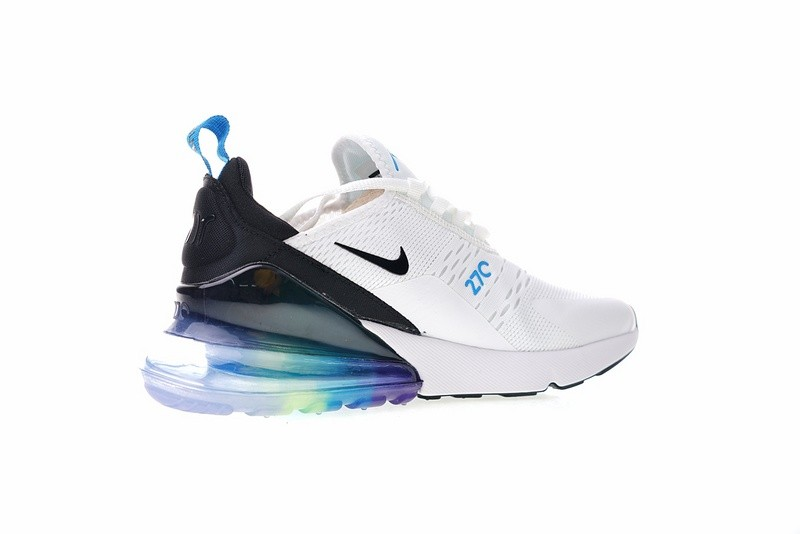 Mens Womens Lifestyle Shoes Nike Air Max 270 Betrue White Black Spectrum Blue AH8050 022 ah8050 022