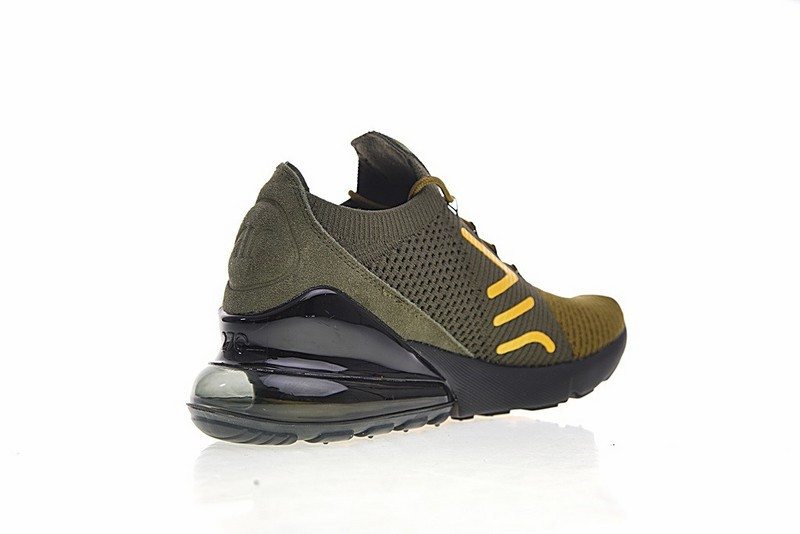 Nike Air Max 270 Flyknit Olive Green Black Yellow AO1023 003