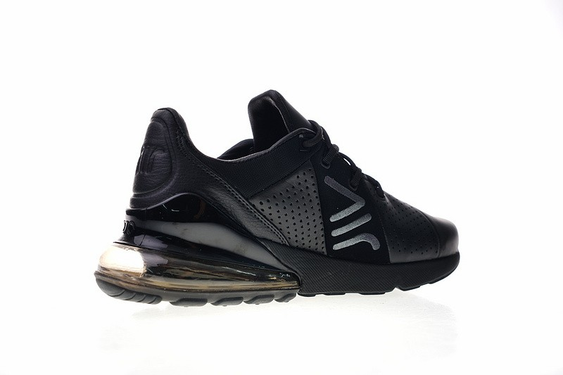 Nike Air Max 270 Premium Leather Black Breathable Casual AO8283 011
