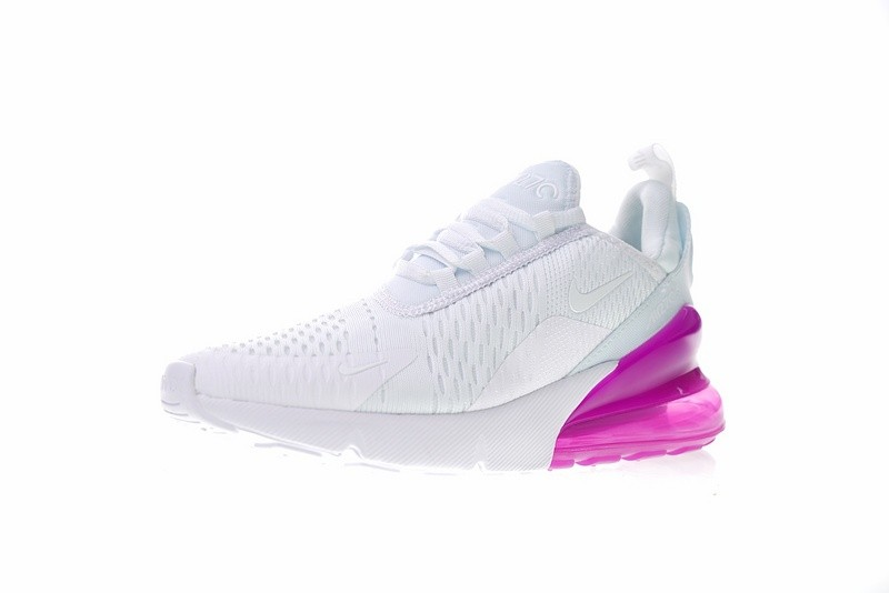 Nike Air Max 270 White Purple Athletic Shoes AH6789 106