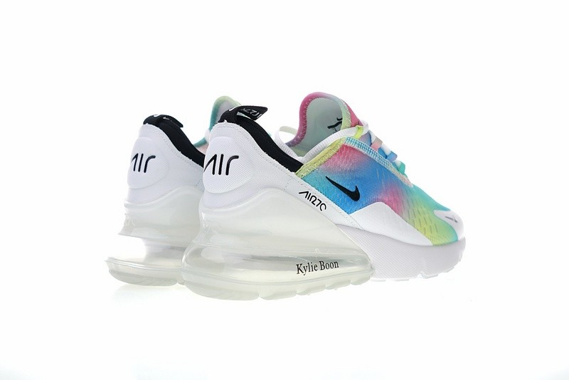 Nike Air Max 270 White Rainbow Multi Color Sneakers AH6789 700