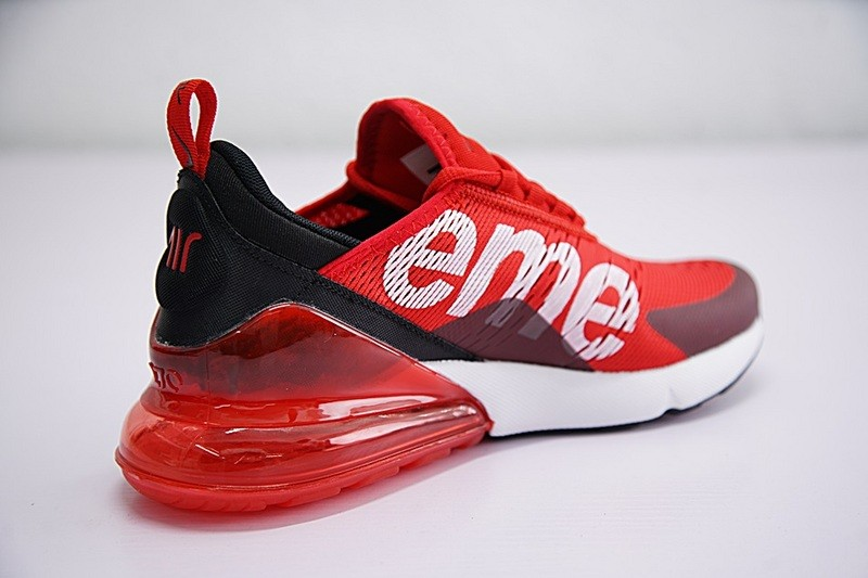 Supreme x Nike Air MAX 270 University Red White Black Running Shoes  AH8050-610