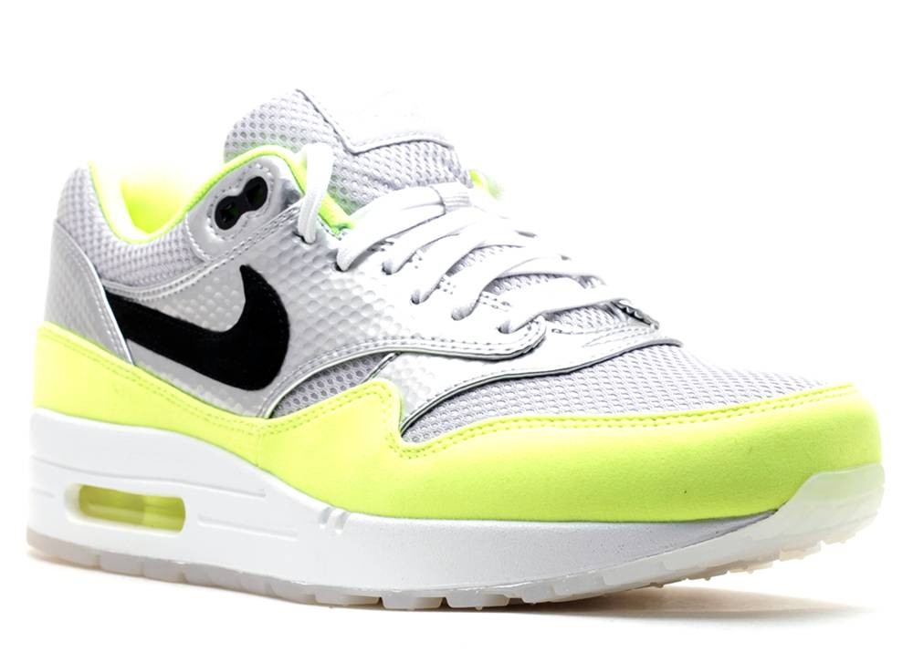 Nike Air Max 1 Fb Premium Qs Mercurial Pack Volt Black Silver Metallic 665874 007