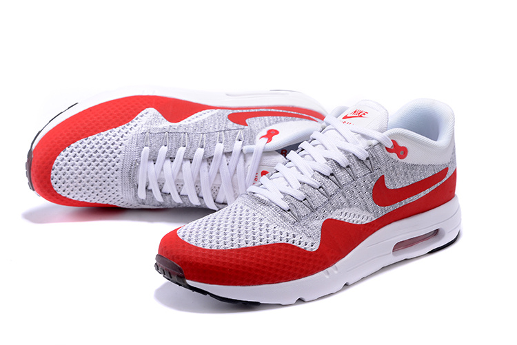 huge discount 1193b 4ed60 ... Nike Air Max 1 Ultra Flyknit OG Men Women Running Shoes White Pure  Platinum Grey University ...