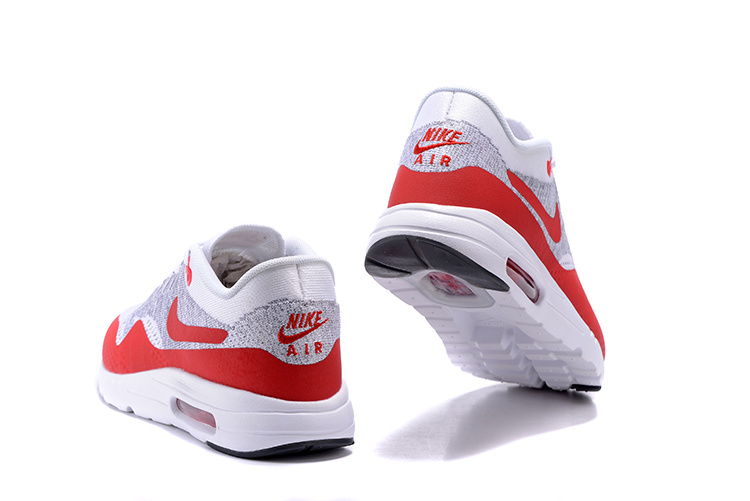 cheap for discount 4b08a f059b ... Nike Air Max 1 Ultra Flyknit OG Men Women Running Shoes White Pure  Platinum Grey University