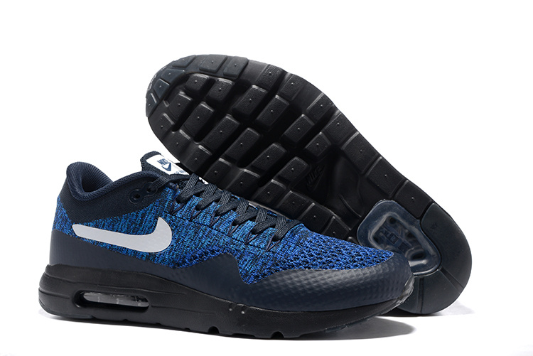 pretty nice d418f 6b20a Prev Nike Air Max 1 Ultra Flyknit USA Obsidian Olympic Navy Black Men  Running Shoes Sneakers 843384. Zoom