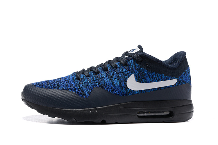 Nike Air Max 1 Ultra Flyknit USA Obsidian Olympic Navy Black Men Running  Shoes Sneakers 843384-401 - SepsportSepsport