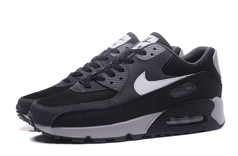 Nike Air Max 90 Classic black Carbon gray men Running Shoes 537384 063