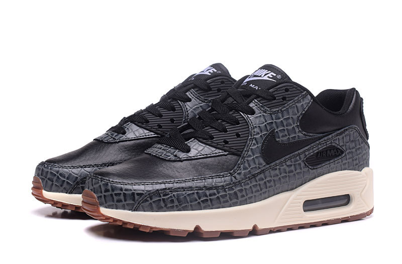 Nike Air Max 90 Classic black Grass matte pattern women Running Shoes  443817-010