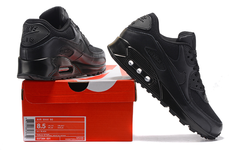 Nike Air Max 90 all black Running Shoes 537394-001