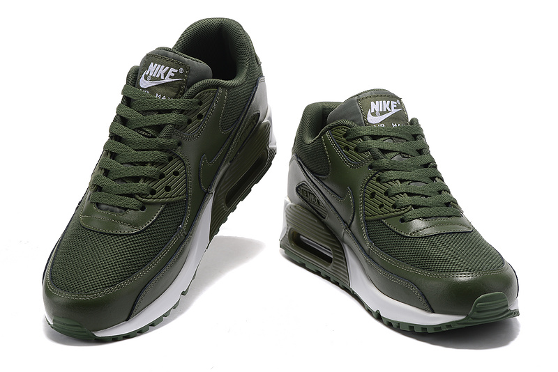 Nike Air Max 90 army green white men Running Shoes 537394-118 ...