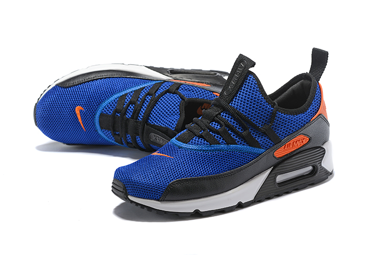 Nike Air Max 90 EZ Running Men Shoes Royal Blue Orange
