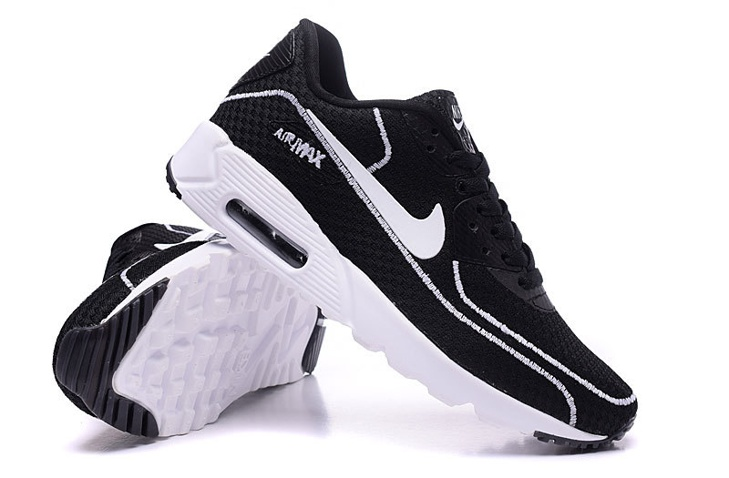 d923cc479d ... Nike Air Max 90 Fireflies Glow Men Running Shoes BR All Black White  819474-001 ...