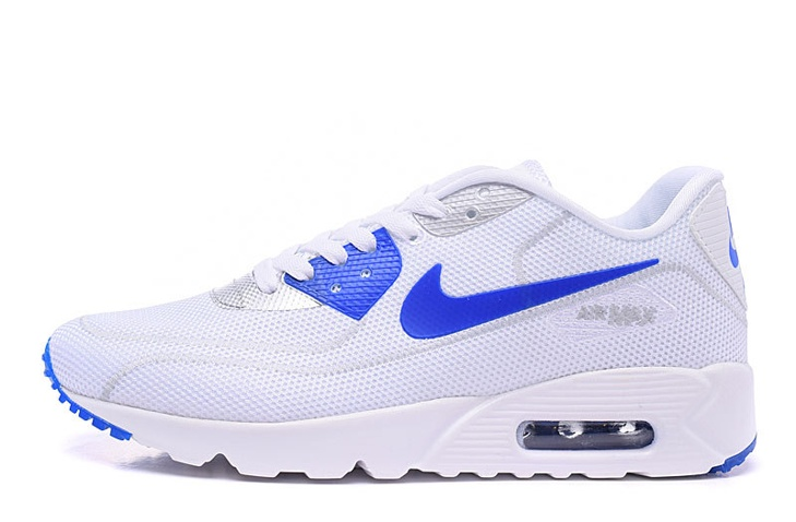 new style b7c47 64ee5 ... Nike Air Max 90 Fireflies Glow Men Running Shoes White Royal Blue  819474-700