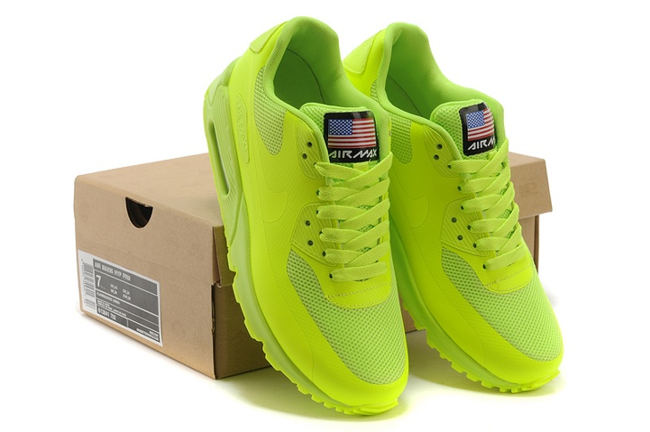 Nike Air Max 90 Hyperfuse QS Sport USA All Flu Green July 4TH Independence Day 613841 700