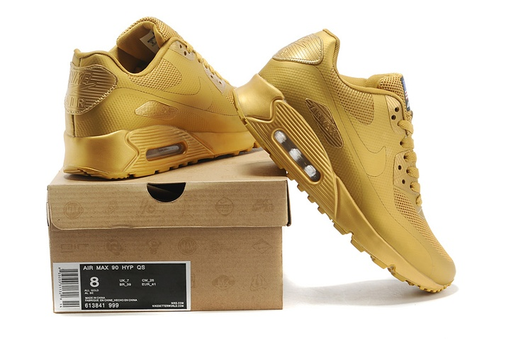 a5782d1c4f92 Nike Air Max 90 Hyperfuse QS Sport USA All Metallic Gold July 4TH  Independence Day 613841