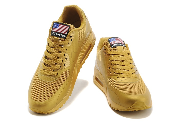 392f0b8dc6a Nike Air Max 90 Hyperfuse QS Sport USA All Metallic Gold July 4TH  Independence Day 613841