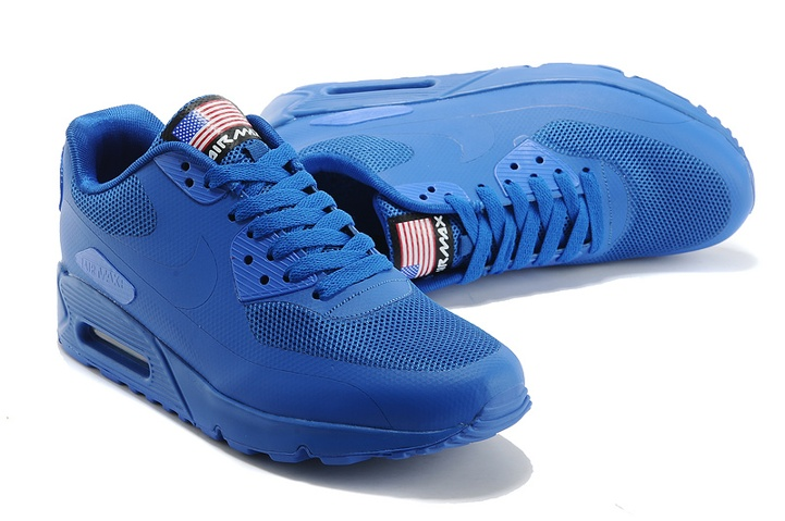 Nike Air Max 90 Hyperfuse QS Sport USA Royal Blue July 4TH Independence Day 613841 400