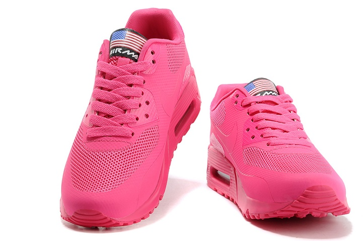promo code 7855e f2267 ... Nike Air Max 90 Hyperfuse QS Women Shoes All Fushia Red July 4TH  Independence Day 613841 ...