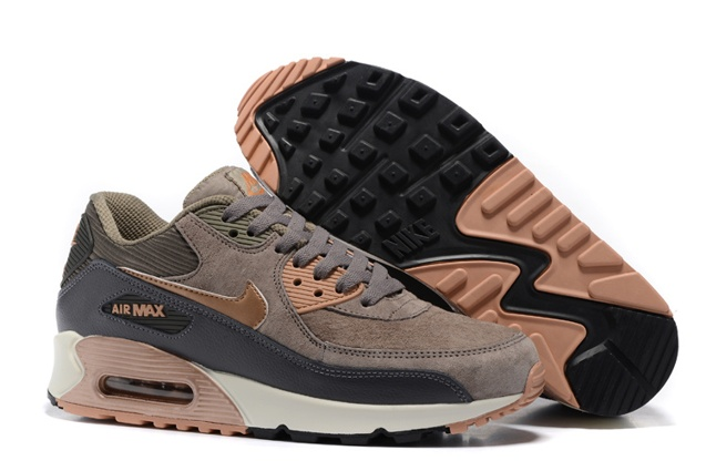4073569d81 Prev Nike Air Max 90 Leather Women Men Shoes Red Bronze Sail Oatmeal  768887-201. Zoom