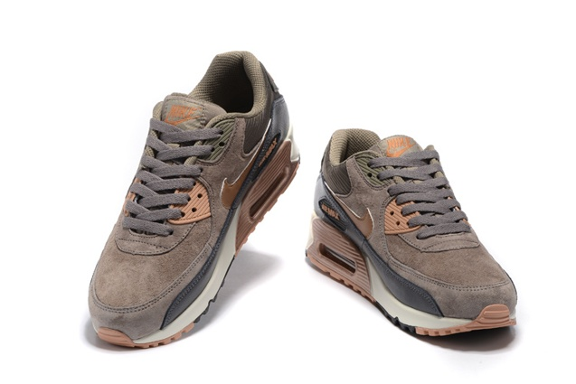 sale retailer 4f979 1fb13 Nike Air Max 90 Leather Women Men Shoes Red Bronze Sail Oatmeal 768887-201