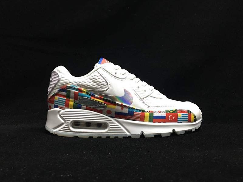 low priced 87091 9c2ef Nike Air Max 90 Nic Qs International Flag Pack White Multi AO5119 ...