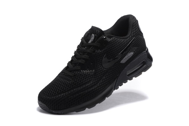 Nike Air Max 90 Ultra BR Breeze Triple Black Mens Women Running Trainers 725222 010