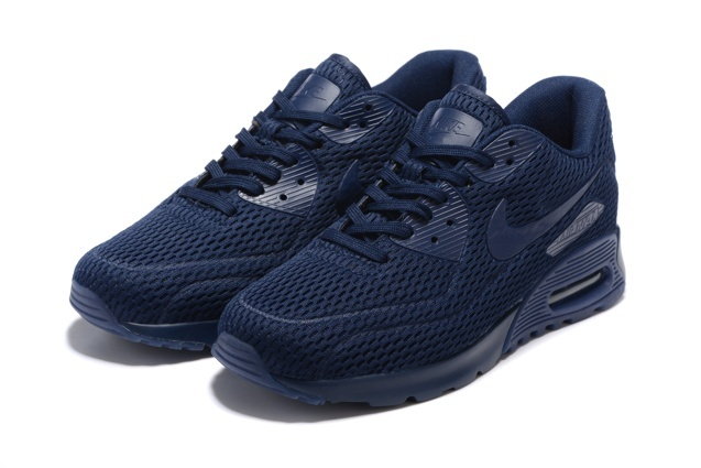 Nike Air Max 90 Ultra Breathe Midnight Navy Men Women Sneakers Shoes 725222 401