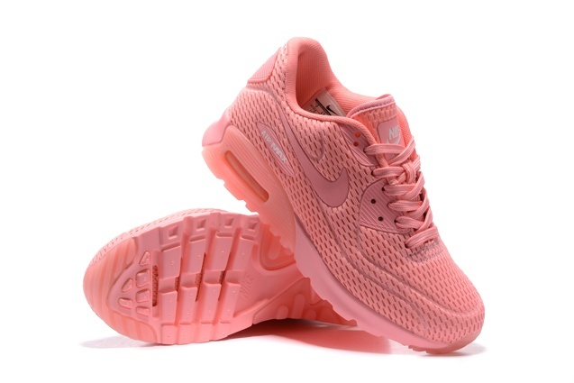 WMNS Nike Air Max 90 Ultra BR Breathe Shoes Pink Blast 725061 600