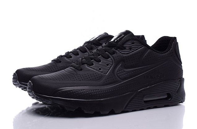 Nike Air Max 90 Ultra Moire Triple Black Men Running Shoes Sneakers 819477 010
