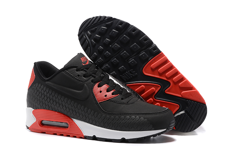 the latest 129ce 5a048 Prev Nike Air Max 90 Woven Men Training Running Shoes Black Red White 833129-002.  Zoom