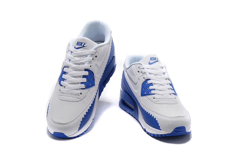 check out ead7f 6f54a ... Nike Air Max 90 Woven Men Training Running Shoes Navy Blue White 833129-006  ...
