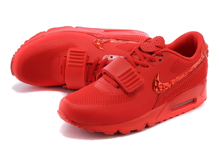 buy online 05c9f 12f8f ... Nike Air Max 90 Air Yeezy 2 SP Casual Shoes Lifestyle Sneakers All Red  508214- ...