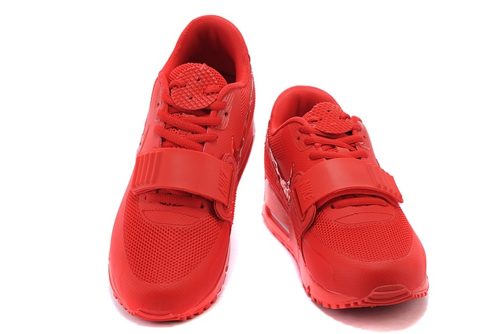 promo code 719b9 849a8 Nike Air Max 90 Air Yeezy 2 SP Casual Shoes Lifestyle Sneakers All Red  508214-600