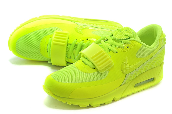 3eb3ba825f ... Nike Air Max 90 Air Yeezy 2 SP Casual Shoes Lifestyle Sneakers Flu  Green 508214- ...