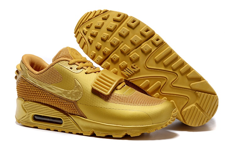 more photos cc4e1 4bbba Prev Nike Air Max 90 Air Yeezy 2 SP Casual Shoes Lifestyle Sneakers  Metallic Gold 508214-. Zoom