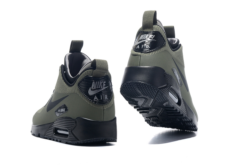 groothandel NIKE AIR MAX 90 MID WNTR army green men running