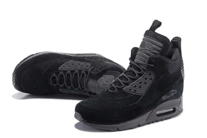 Nike Air Max 90 Sneakerboot Winter Suede All Black 684714-016 - Sepsport 0c30925bc