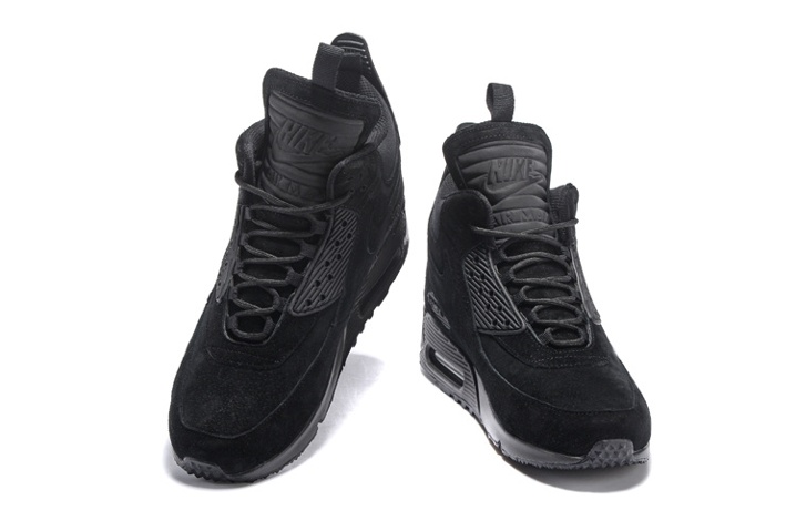 Nike Air Max 90 Sneakerboot Winter Suede All Black 684714-016 - Sepsport 7b513cd2a