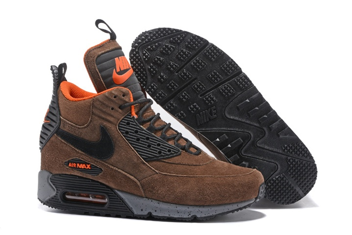 4badfb9c1b99c7 Prev Nike Air Max 90 Sneakerboot Winter Suede Bronze Brown Orange  684714-020. Zoom. Move your mouse over image or click to enlarge