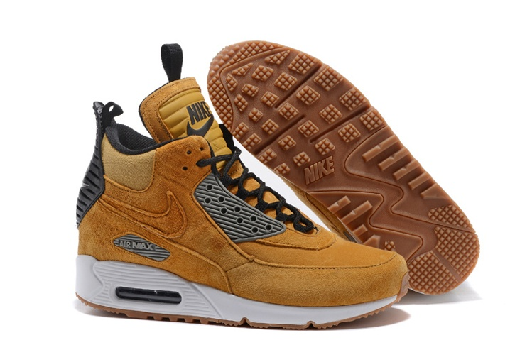 sports shoes 59f12 52395 Prev Nike Air Max 90 Sneakerboot Winter Suede Wheat Black 684714-017. Zoom