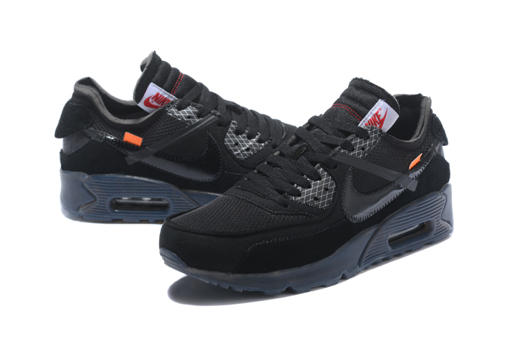 OFF WHITE x Nike Air Max 90 OW Men Running Shoes Black All