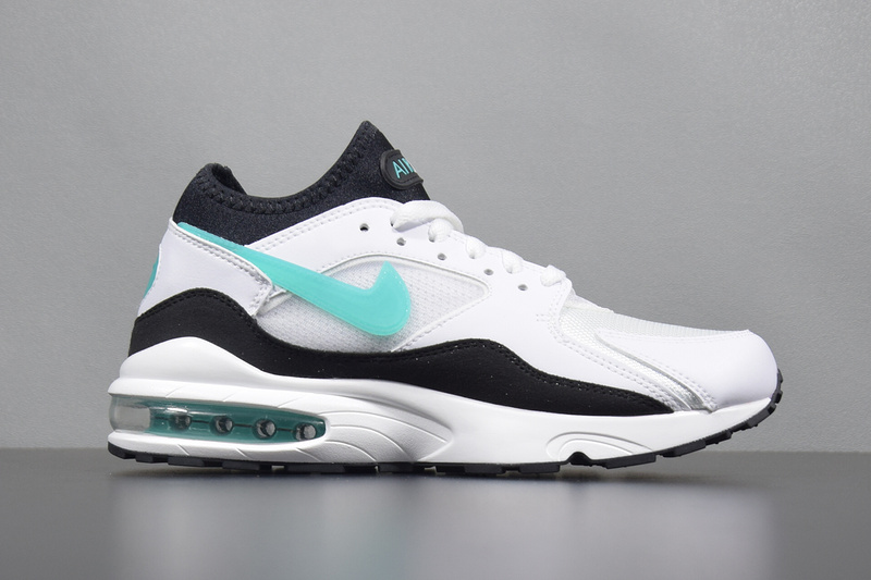 Nike Air Max 93 Leather Mens Shoes Green White 306551 107