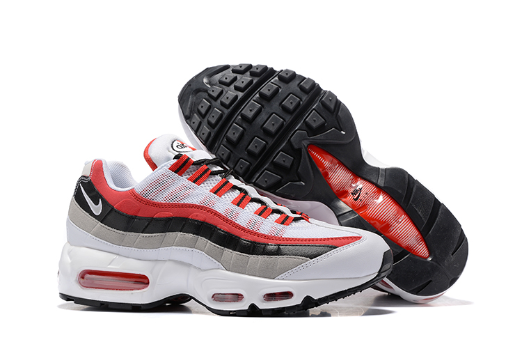 premium selection cdb6f 9f3f9 Prev Nike Air Max 95 Black Cool Grey White Red Men Running Shoes Sneakers  Trainers 749766-