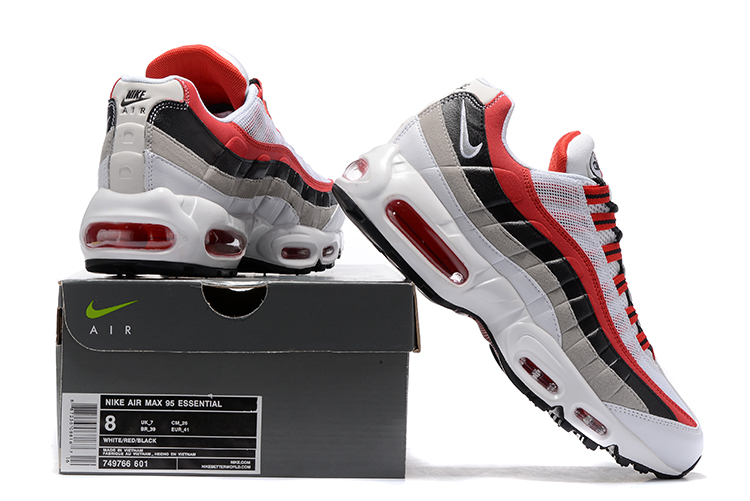 pretty nice 1ab17 539d0 ... Nike Air Max 95 Black Cool Grey White Red Men Running Shoes Sneakers  Trainers 749766- ...