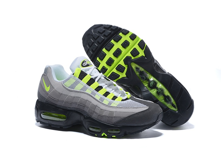 promo code 6191d b903f Prev Nike Air Max 95 AM95 AM Black Volt Medium Ash Dark Pewter OG Neon  554970-