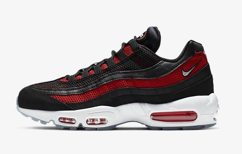 on sale 13e51 4cc07 Prev Nike Air Max 95 Essential Black University Red Reflect Silver White  749766-039. Zoom. Move your mouse over image or click to enlarge