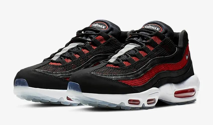 Nike Air Max 95 Essential Black University Red Reflect Silver White  749766-039