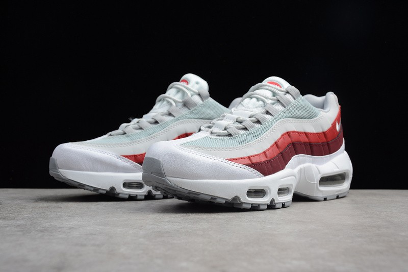 buy cheap official photos discount shop Nike Air Max 95 OG White Pure Platinum Team Red Wolf Grey 749766-103
