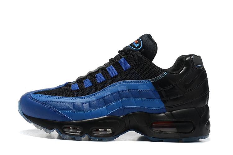 Nike Air Max 95 LJ QS Lebron James Game Time Black Blue Men Shoes 822829 444